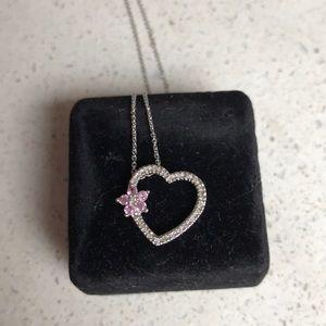 "Diamond heart necklace 18"" chain"